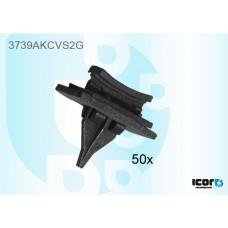FORD TRANSIT V184 2000- KIT OF 50 WS SIDE CLIPS BLACK