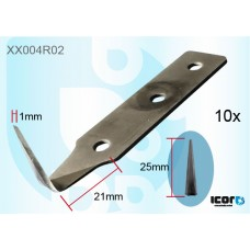 "10 W/S CUT OUT BLADES - 1""CARBON COLD KNIVES & BLADES"