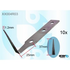 """10 W/S CUT OUT BLADES - 1.5"""" - CARBON COLD KNIVES & BLADES"""