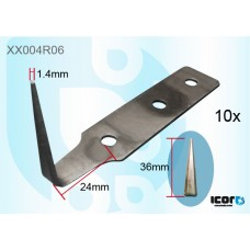 10 BLADES COLD CUT KNIFE (36MM) - CARBON+ULTRATHIN COLD KNIVES & BLADES