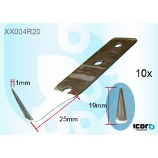"""10 W/S CUT OUT PAINT PROTECTION BLADES - 19MM (3/4"""") COLD KNIVES & BLADES"""