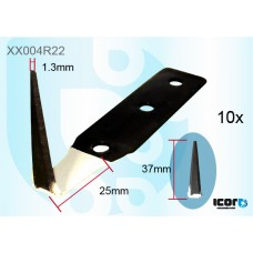 """10 W/S CUT OUT PAINT PROTECTION BLADES - 37MM (1.5"""") COLD KNIVES & BLADES"""